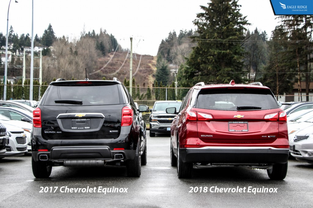 Comparison 2018 Chevrolet Equinox Vs 2017 Chevrolet Equinox